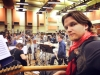 Rehearsing with the BBC Orchestra, May 2014
